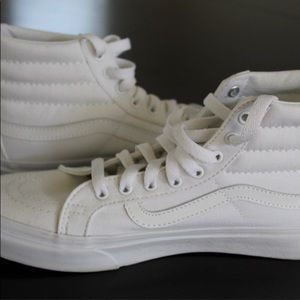 New White High Top Vans